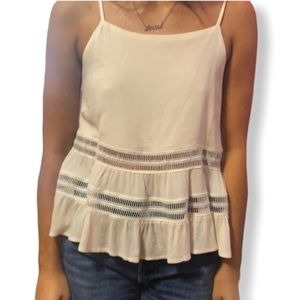 New with tag Ardene cream lace insets tank top